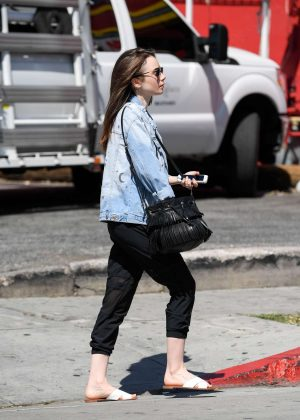 Lily Collins: Out and about in LA -01