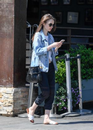 Lily Collins: Out and about in LA -03