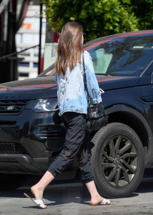 Lily Collins: Out and about in LA -04