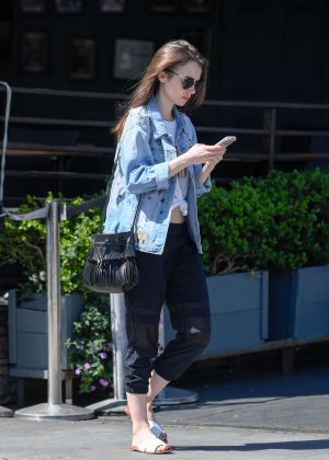Lily Collins: Out and about in LA -05