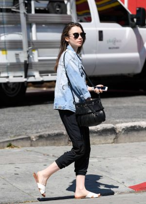 Lily Collins: Out and about in LA -06