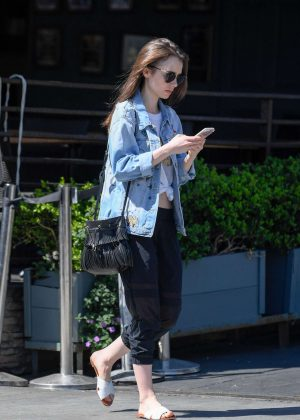 Lily Collins - Out and about in LA