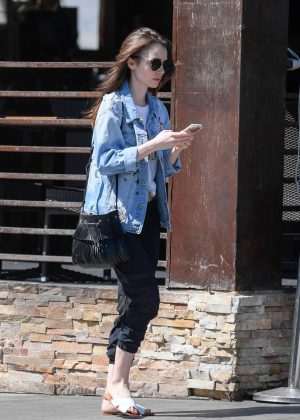 Lily Collins: Out and about in LA -09