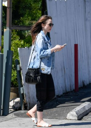 Lily Collins: Out and about in LA -10