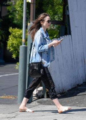 Lily Collins: Out and about in LA -11