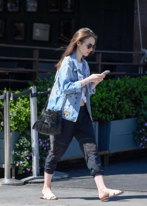 Lily Collins: Out and about in LA -12