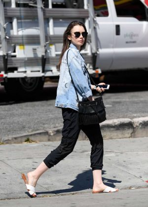 Lily Collins: Out and about in LA -13