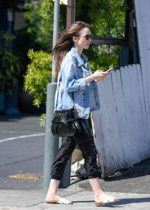 Lily Collins: Out and about in LA -14
