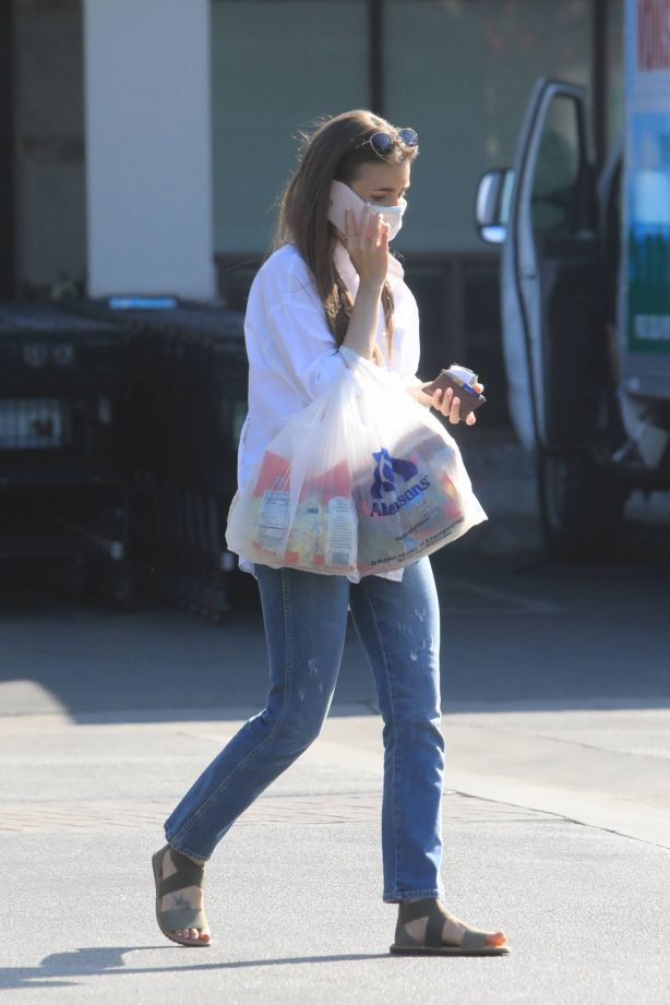 Lily Collins - Out and about in Los Angeles