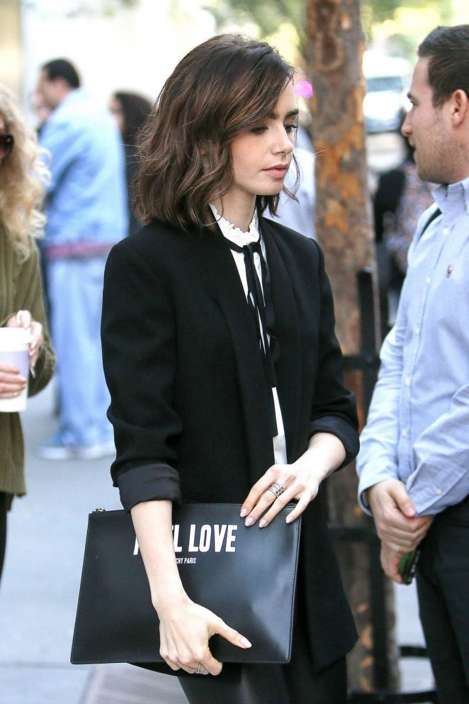 Lily Collins Out and About in New York