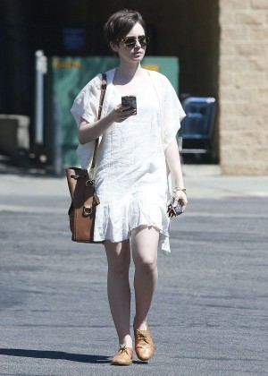 Lily Collins in White Mini Dress -05