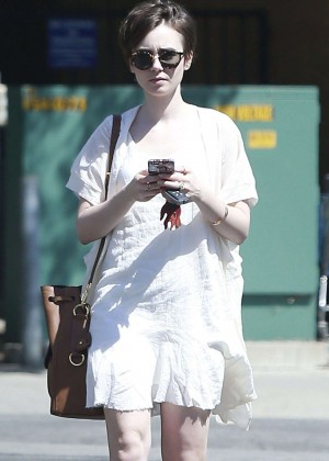 Lily Collins in White Mini Dress Out in West Hollywood