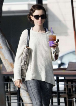 Lily Collins - Out and about in West Hollywood