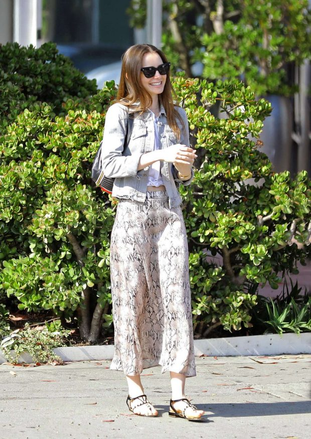 Lily Collins - Out for a stroll in West Hollywood