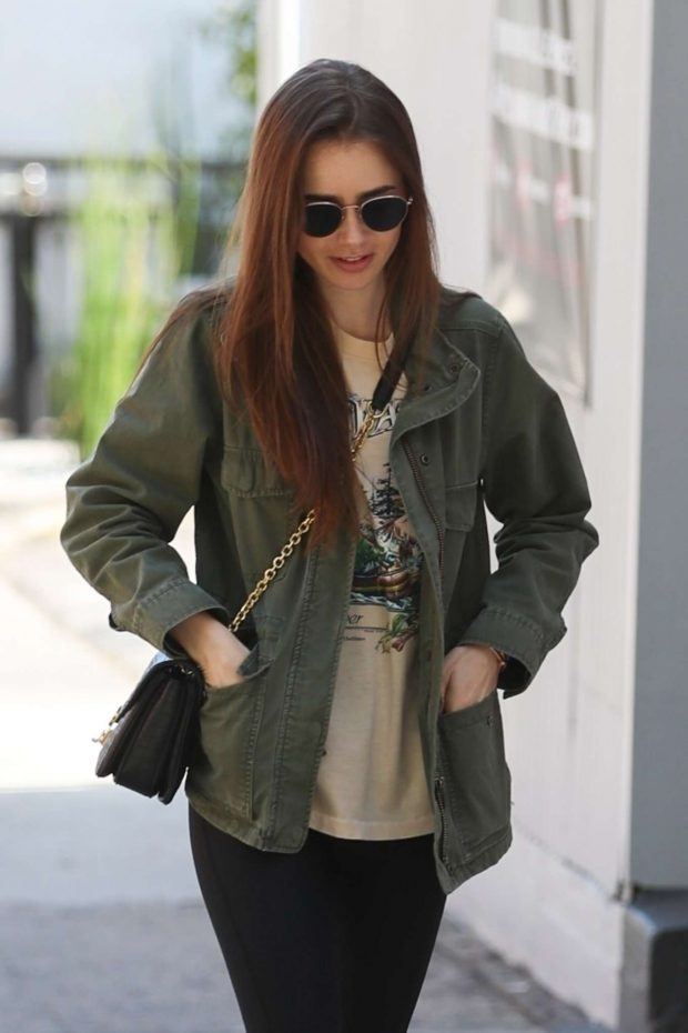 Lily Collins - Out for Lunch at Hugo's in West Hollywood