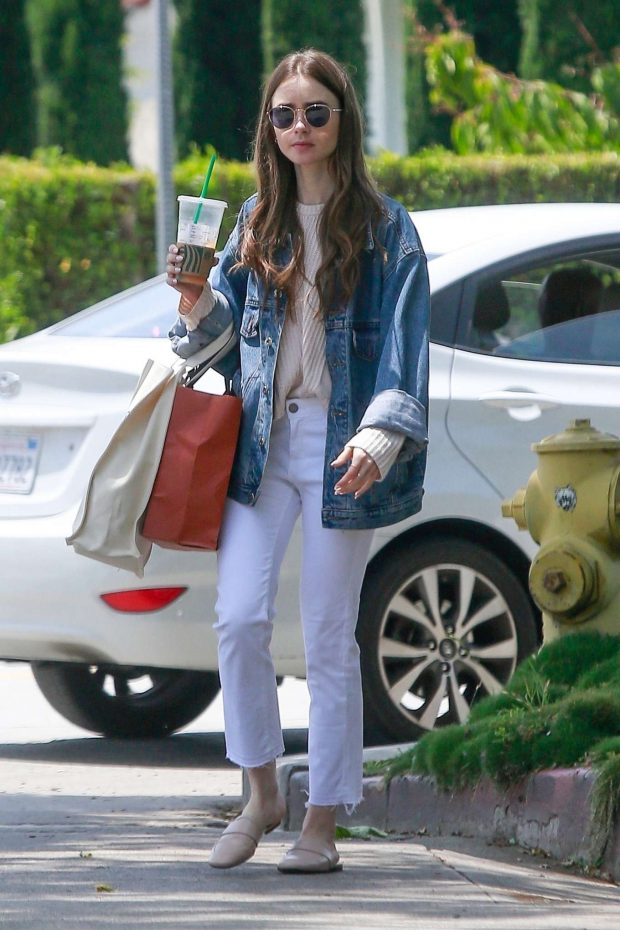 Lily Collins - Out for shopping in Los Angeles