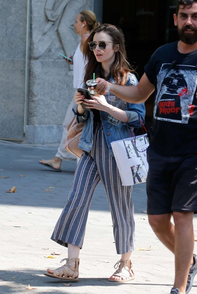 Lily Collins - Out in Barcelona