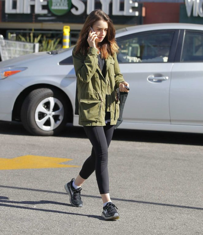 Lily Collins out in Hollywood