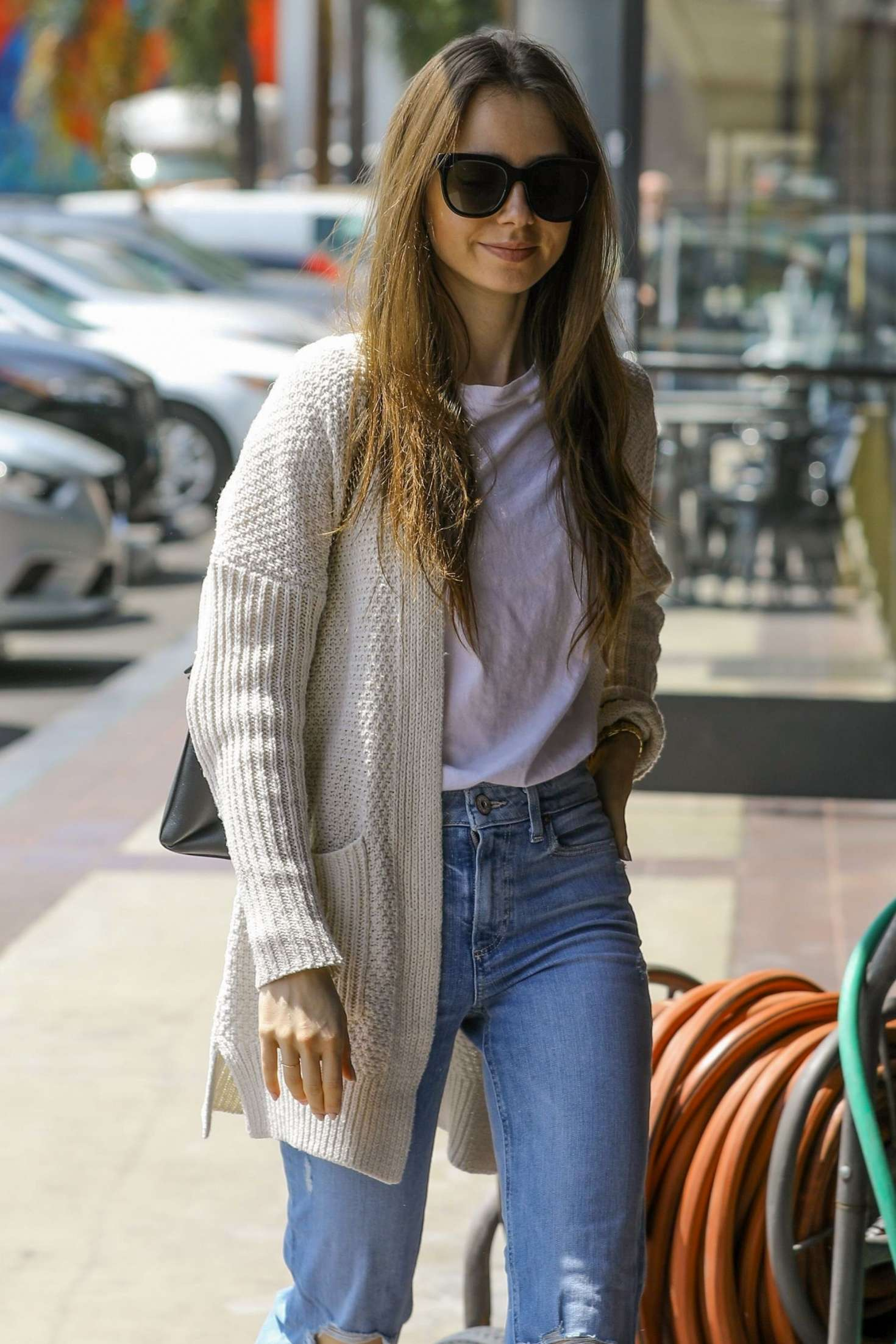 Lily Collins 2019 : Lily Collins: Out in Hollywood -02