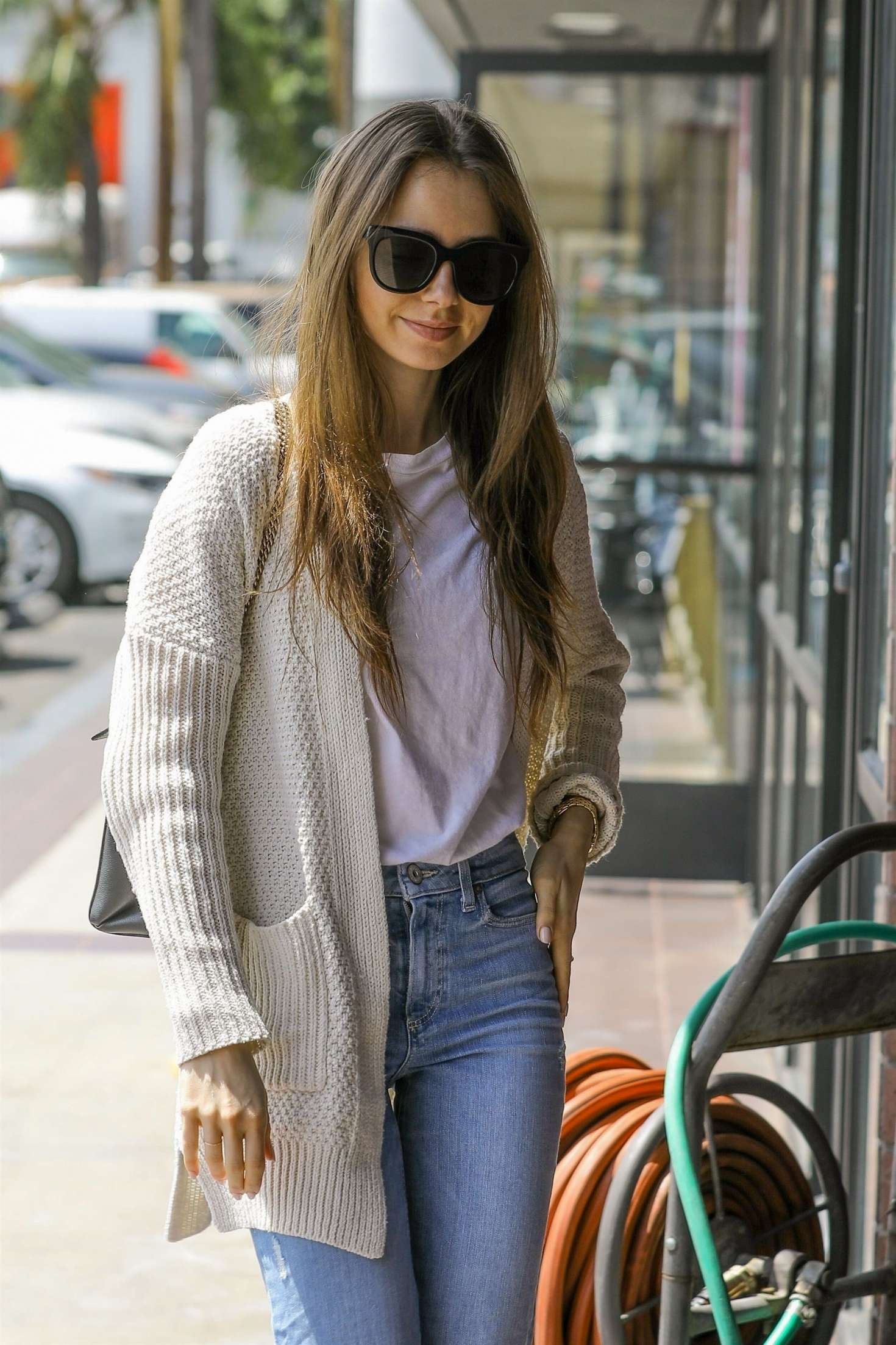 Lily Collins 2019 : Lily Collins: Out in Hollywood -06