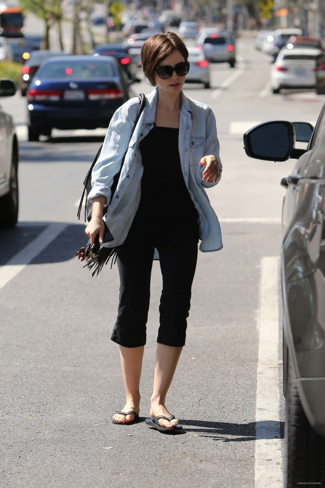 Lily Collins out in LA -03