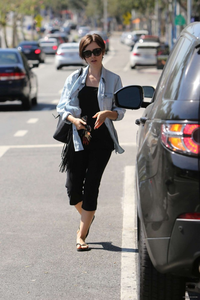 Lily Collins out in LA -04