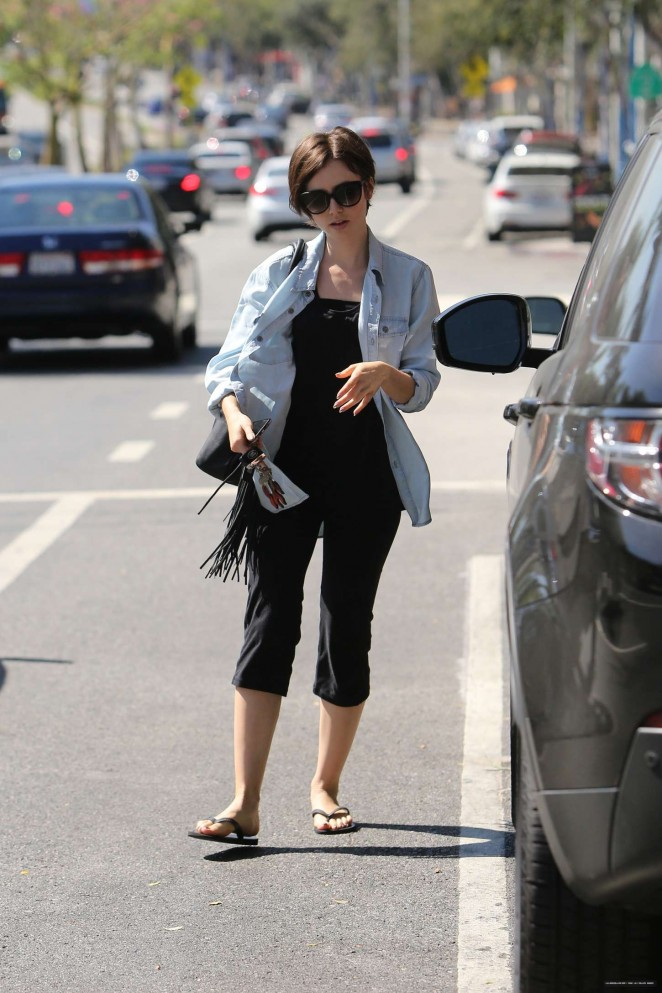 Lily Collins out in LA -13