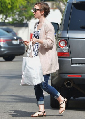 Lily Collins - Out in LA