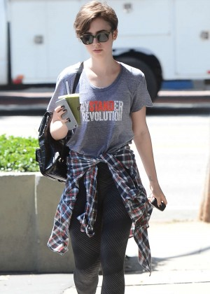 Lily Collins - Out in Los Angeles
