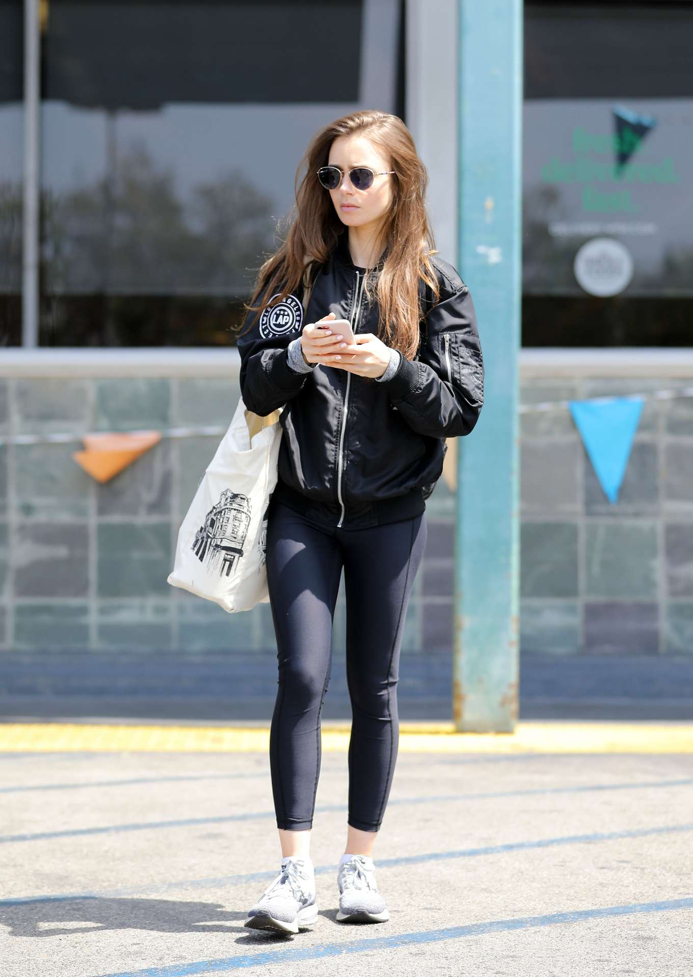 Lily Collins - Out shopping in Los Angeles