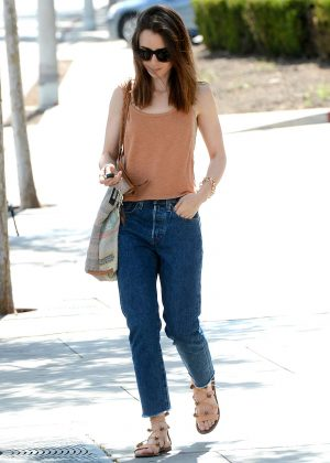 Lily Collins Out shopping with her mom in LA