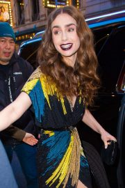Lily Collins - Outside 'The Tonight show Starring Jimmy Fallon' in NY