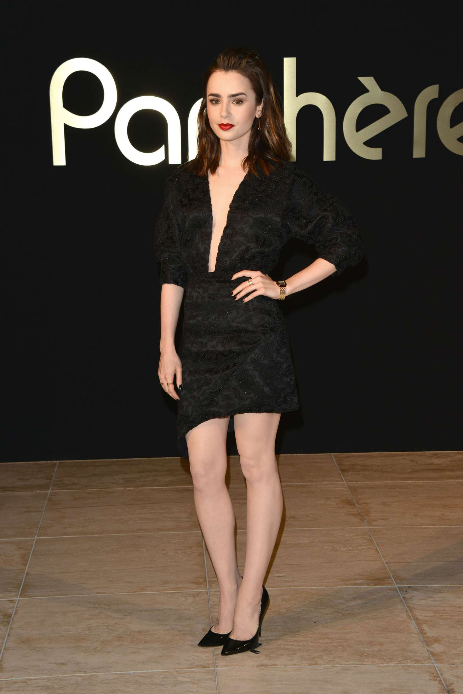 Lily collins panthere de cartier watch launch in la nudes (97 photo)