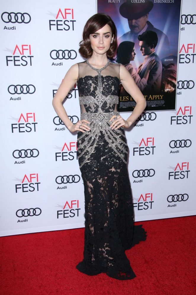 Lily Collins - 'Rules Don't Apply' Premiere at AFI Fest 2016 in LA