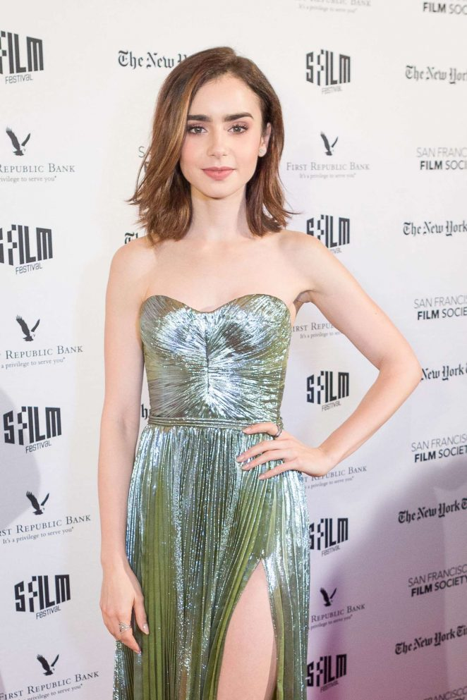Lily Collins - 'Rules Don't Apply' Priemere in San Francisco