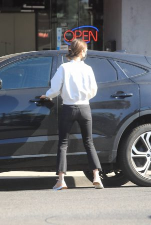 Lily Collins - Running errand in Los Angeles