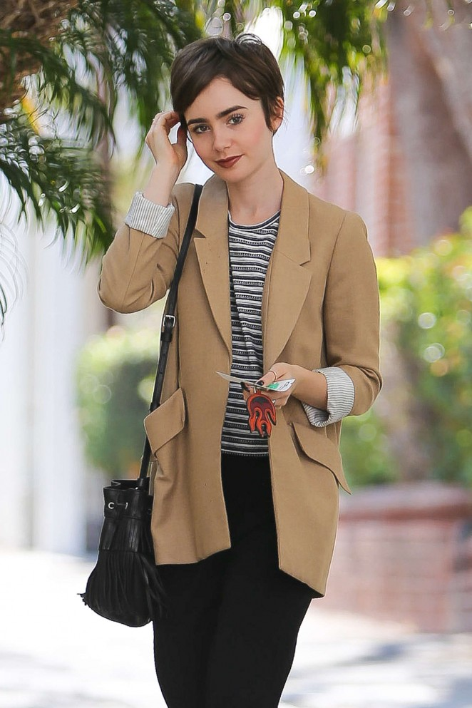 Lily Collins - Running errands in Beverly Hills