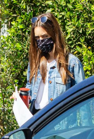 Lily Collins - Seen at a friend's place in Studio City