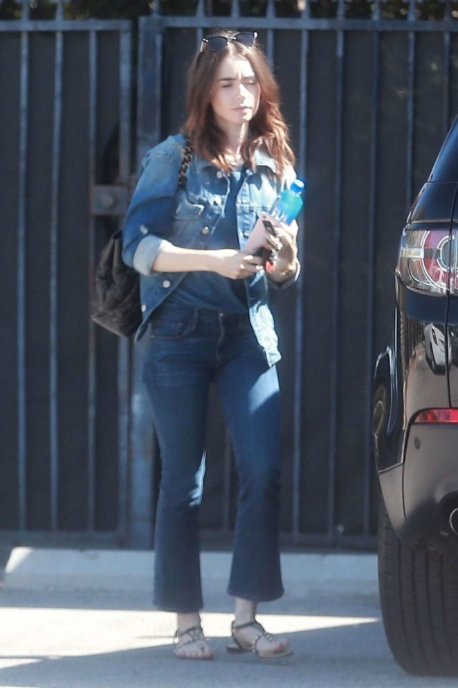 Lily Collins - Seen out in Studio City