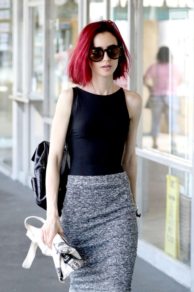 Lily Collins Shopping at Whole Foods in West Hollywood