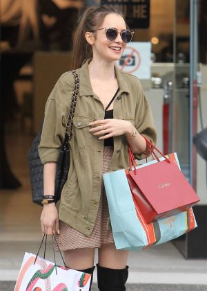 Lily Collins: Shopping in Beverly Hills -02