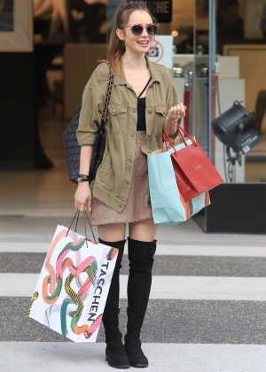 Lily Collins: Shopping in Beverly Hills -03