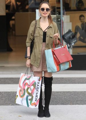 Lily Collins: Shopping in Beverly Hills -05
