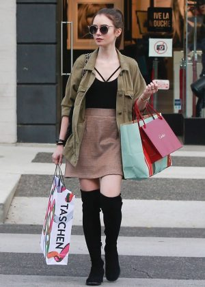 Lily Collins: Shopping in Beverly Hills -06