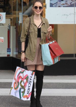 Lily Collins: Shopping in Beverly Hills -07