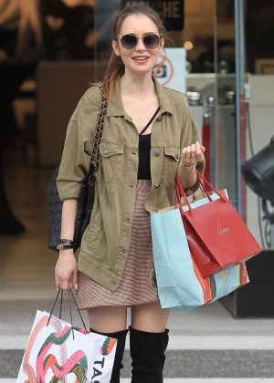 Lily Collins: Shopping in Beverly Hills -11