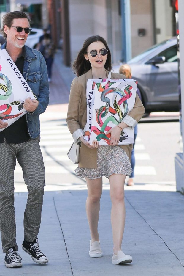Lily Collins - Shopping in Beverly Hills