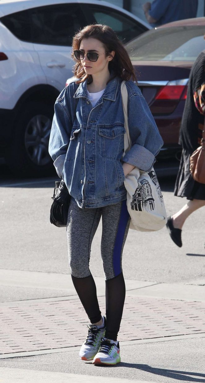 Lily Collins - Shopping in West Hollywood