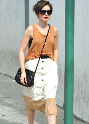 Lily Collins - Shopping on Rodeo Drive in Los Angeles