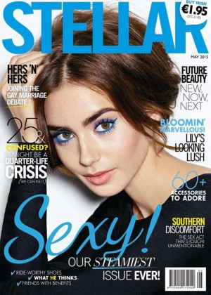 Lily Collins - Stellar Ireland Magazine Cover (May 2015)